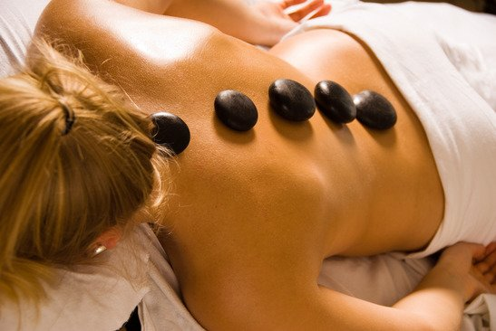 spa with hot stones